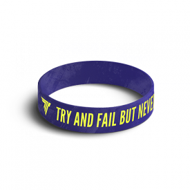 WRISTBAND 035 TRY & FAIL BUT NEVER