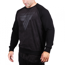 TW SWEATSHIRT 016 BLACK ON BLACK